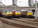 90047 + 90035 + 67005 Queen\'s Messenger - 10-9-05 - Crewe