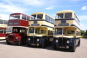 334 334CRW + 3225 MOF225 + 2533 JOJ533 - 11-7-10 - Aston Manor Transport Museum