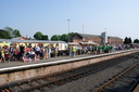 Crowds waiting for the Olympic Torch - 24-5-12 - Kidderminster Town
