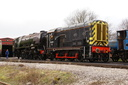 08331 + 46233 DUCHESS OF SUTHERLAND - 8-2-14 - Swanwick Junction (Midland Railway Centre)