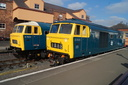 D7029 + D7076 - 2-10-15 - Kidderminster Town (Severn Valley Railway) (2)