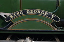 KING GEORGE V - 6000 - 25-10-15 - Tyseley (Tyseley Locomotive Works)