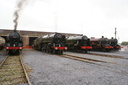 30777 Sir Lamiel + 70013 Oliver Cromwell + 46115 Scots Guardsman + 5690 Leander + 48151 - 26-7-08 - WCRC Carnforth