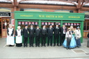 Station staff waiting to meet Queen Victoria