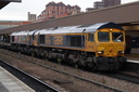 66705 Golden Jubilee + 66718 Sir Peter Hendy CBE - 18-11-17 - Leicester
