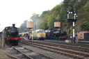 1450 + D433 Glorious + 7714 - 5-10-18 - Bewdley (Severn Valley Railway)